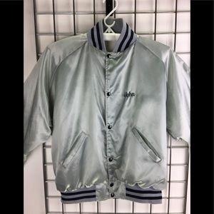 Vintage Silver Baseball Style Jacket VGUC
